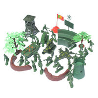 37Pcs/Set 5cm Model Toy Soldier Kit Playset Army Men Accessories Game Gifts