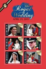Liberia- 2011 Royal Wedding Prince William And Kate Middleton Stamp Sheet of 4