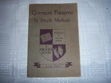 Garment Patterns By Simple Methods By Linda Knox Vintage 1945 Small Brooks Book