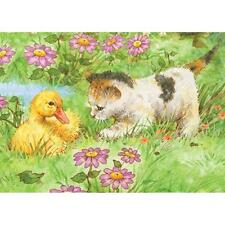 "Colour Pencil By Number Kit KITTEN & DUCKLING 5"" X 7"""