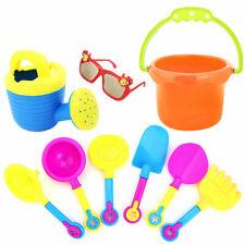9pcs Kids Sand Beach Toys Castle Bucket Spade Shovel Rake Water Tools Sunglasses