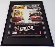 Driver Parallel Lines 2006 XBox PS2 Framed 11x14 ORIGINAL Advertisement