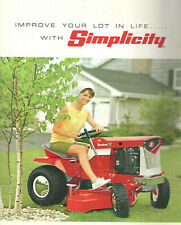VINTAGE 1968 SIMPLICITY LAWN TRACTOR COLOR CATALOG! ACCESSORIES/SNOW BLOWERS++++