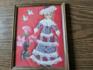 Folk Art Handmade Fabric Sewn Victorian Woman #2 Picture