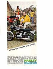 1967 HARLEY-DAVIDSON RAPIDO 125 cc MOTORCYCLE  ~  ORIGINAL PRINT AD
