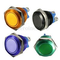 16mm Momentary Push Button Horn Switch OFF (ON) Car Dashboard Boat SPST 3A 250V