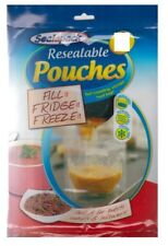 14 SealAPack Resealable Food Soup Bag Pouches Fill Fridge Freeze 1 Ltr Storage 7