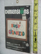 Crewel Dimensions 1982 7x5 6096 too busy to be organized