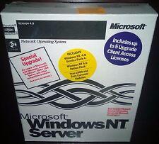 Microsoft Windows NT Server 4.0 w/ Key & 5 Clients CALs Retail Box NEW OLD STOCK