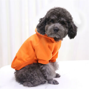 Dog Hoodies Pet Clothes Coat Dogs Puppy Hooded Cotton Sweatshirt Warm Costume