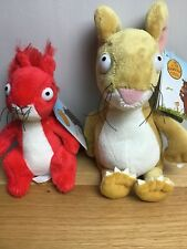"""Mouse Soft Toy 7"""" & Squirrel from  The Gruffalo, Julia Donaldson, Both BNWT"""