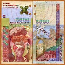 New listing Specimen Cape Verde, Africa, 5000 Escudos, 2000, P-67s (67), Unc