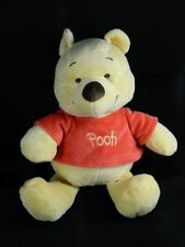 "Winnie the Pooh Baby Rattle Crinkle Ears Plush Crib Toy Disney Baby 12"" EUC"