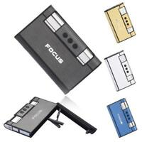 FOCUS Portable Cigarette Boxes With Torch Lighter Metal Case Holder