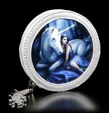3D Münzgeldbörse mit Einhorn - Blue Moon - Anne Stokes Portemonnaie Fantasy