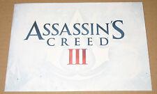 Assassins Creed 3 III Art Cards Rare Collectors Item