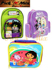 KIDS SCHOOL LUNCH PACK BAGS CARTOON CHARACTER DORA MOXIE GIRLS GUESS WITH JESS