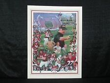 History Of South Carolina Gamecocks Football Paul Miller Lithograph George Roger