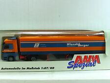 """AWM 1:87 Mercedes Benz  Planen-Sattelzug """"Wieselsberger Spedition""""  (SZ 3466)"""