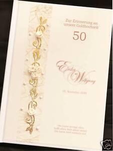 Hardcover Gästebuch Goldene Hochzeit GOLD Goldhochzeit
