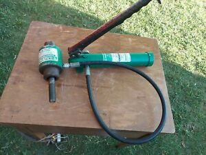 Greenlee Model 767 Hydraulic Hand Pump Nice Working ConditION CHECK PHOTO PLEASE