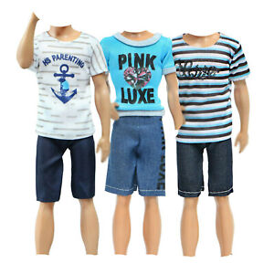 Barbie Clothes 1 Outfit for Ken Doll Includes Green Vest Gray Joggers and Sunglasses Gift for 3 to 8 Year Olds 