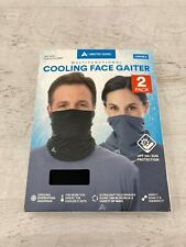 Arctic Cool 2 Pack Unisex Multifunctional Cooling Face GAITER 1 Black and 1 Gray