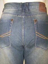 ROK Blue Stonewashed Classic Five Pocket Denim Jeans Mens Size 38x32