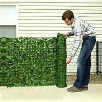 Plant Artificial Leaves Fence Hedge Screen Fake Ivy Vine Garland Faux Silk Decor