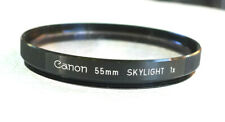 55mm Canon Skylight Filter - Made in Japan - PERFECT