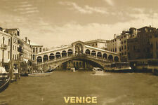 Postcard Set of 10 Grand Canal Rialto Bridge Venice Italy 2010 Sepia Post Card