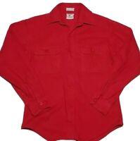 VTG Prentiss Outdoors Red Chamois Cloth Camp Shirt Long Sleeve USA Made Men S
