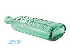 Antique TURQUOISE AQUA colored WARNER'S SAFE REMEDIES bottle w/pic old time SAFE