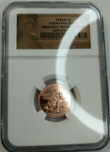 2009 - D - U.S Lincoln - Brilliant Uncirculated - Formative Years Penny NGC 1C