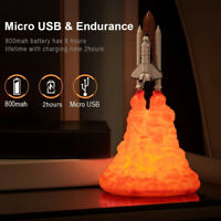 3D Printed Lamp Delicate Space Flight Adornment Unique Night Light Creative Deco