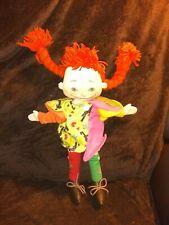 Vintage 1988 Pippi Longstocking Plush Doll Astrid Lindgren Applause Toy