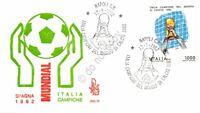 FDC Venetia - Italia 1982 - Italia campione del mondo di calcio - non viaggiata