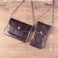 Handmade Genuine Leather Vintage Cell Phone Bag Purse Wallet Case Shoulder Hand