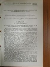 Government Report 3/8/1882 Shoshone Bannock Indian ID UT Northern Railroad Co.