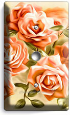 BEAUTIFUL PINK ROSES BOUQUET LIGHT DIMMER CABLE WALL PLATE COVER ROOM HOME DECOR