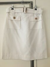 Lisa Ho off-white skirt. Size 10. Excellent condition.Removable belt.