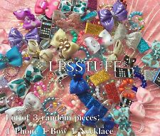 Littlest Pet Shop LPS Random Accessory Grab Bag Lot: 1 Necklace 1 Bow 1 Phone