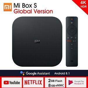 Xiaomi MI BOX S Android 8.1 Smart 4K Mi TV Boxes HDR Google Casts Global Version