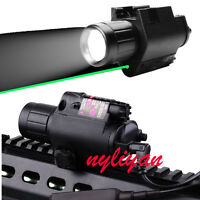 Combo Green Laser Sight&300LM Torch 20mm Rail For Rifle Airsoft gun Hunting