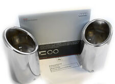Audi A4 A5 A6 tailpipe pipe tips Dual SET Chrome finish 80mm