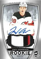 "2018-19-U.D. "" THE CUP"" ROOKIE- JOEY ANDERSON  R.C. AUTO PATCH  #/249 NEW JERSEY"