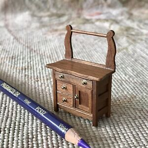 "Chest Of Drawers Dresser  Walnut Artist Signed HALF INCH 1:24 1/2"" Scale 128"