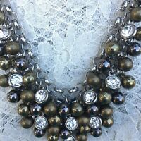 Boutique Collections Mixed Metal Tones & Rhinestone Necklace and Earring Set