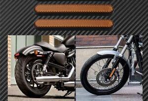 Motorcycle Fork Reflectors -Harley, Kawasaki, Honda, Suzuki- Adhesive Aus Seller