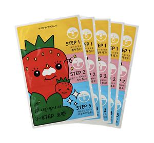 TONY MOLY Tonymoly Runaway Strawberry Seeds 3 Step Nose Pack 6g x 5 pcs